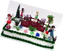 FAIRIES 16 Piece Birthday Cake Topper Set Featuring 4 Random