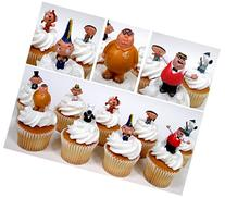 FAMILY GUY 9 Piece Birthday CUPCAKE Topper Set Featuring 9