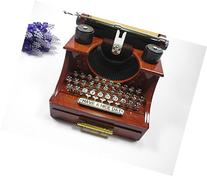 Birthday Gift Vintage Typewriter Musical Music Box for home