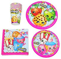 Shopkins Birthday Party Supplies Pack Bundle - Lunch Plates
