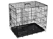 "New Black 42"" 2 Door Pet Cage Folding Dog Cat Crate Cage"