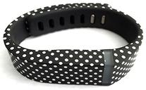 1pc Small S Black with White Dots Spots Replacement Band