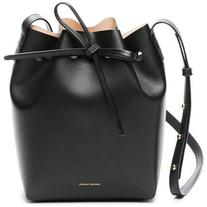 Mansur Gavriel Black/Ballerina Mini Bucket Bag