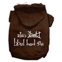 Black Cats are Bad Luck Screen Print Pet Hoodies Brown Size