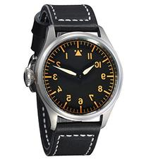 Fanmis Black Dial Orange Number Silver Case Sapphire Glass
