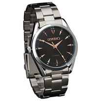 Fanmis Men's Black Dial Silvery Stainless Steel Band Quartz