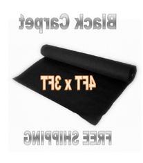 3ft x 4ft BLACK DJ CAR SUB SPEAKER BOX CARPET TRUNK LINER,