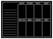 "Dry Erase Chalkboard - 15"" x 11"" inches - Refrigerator"