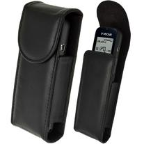 iGadgitz Black Genuine Leather Case Cover for Sony ICD-PX312