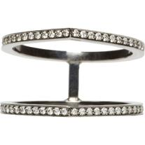Repossi Black Gold Pavé Diamond Double Antifer Ring