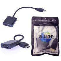TOOGOO Black HDMI Input To VGA Adapter Converter For PC