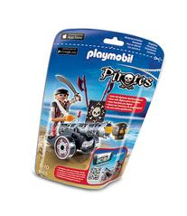 Playmobil Black Interactive Cannon with Raider-MULTI-One