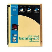 Avery Black Leather Pre-Printed Dividers, A-Z, 25-Tab Set, 1