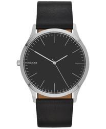 Skagen Men's Black Leather Strap Watch 41mm SKW6329