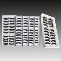 10 Pairs Black Long Volume False Eyelash Eye Makeup 007
