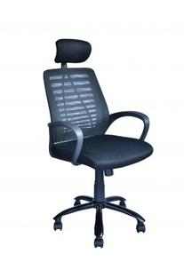 Black Mesh Back Office Task Chair Computer w/Adjustable Head