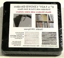Black Plastic CD Dividers and Alphanumeric Stickers to