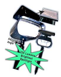 Black Plastic Solar Spotlight 225 Lumens 4 High Output LED