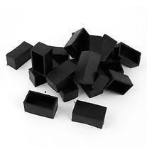 Dimart 10Pcs Black 25mmx50mm Rectangular Chair Table Foot