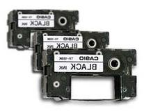 Casio Black Ribbons for All CW Disc Title Printers, 3 Pack