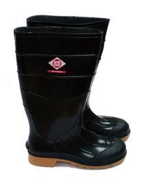 "Herco 14"" Black Rubber Rain Work Boots - Women's Size 5"