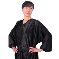 """JMT Beauty Black Salon Client Gown, Kimono Style, 43"""" Long,"""