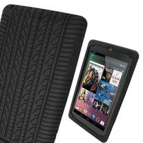 iGadgitz Black Silicone Skin Case Cover with Tyre Tread