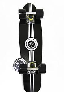 "Black Fish Skateboard Wood Maple 22"" Retro 70's Urban"