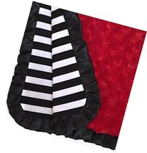 Black stripes baby blanket with red minky, minky baby