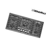 "Windmax 34"" Black Titanium Stainless Steel Built-in 5 Ring"