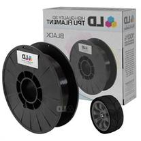 LD Black 1.75mm 0.5kg TPU Filament for 3D Printers