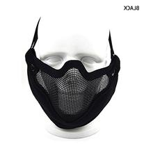 Canis Latran Black V9 Half-face Steel Wire Protective Mask