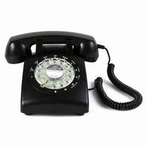 Black Color Vintage 1970's STYLE ROTARY Retro old fashioned