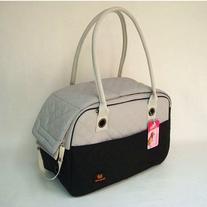Black White Cotton Dog Travel Bag Dog Totes Carriers Cat