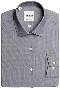 Ben Sherman Men's Skinny Fit Dobby Striped Dress Shirt,