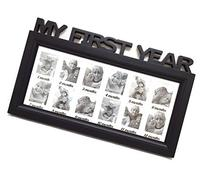 Black/White Frame Baby's First Year Timeline Collage Picture