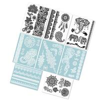 Hakuna 8 Sheets Temporary Tattoos - Over 40+ Henna Designs,