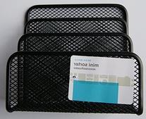 """Black Wire Mesh Mini Desk Organizer - 5.5"""" x 5"""" x 3"""