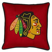 Chicago Blackhawks SIDELINES Jersey Material Toss Pillow