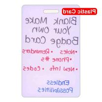 Blank Plastic Vertical Make Your Own Badge ID Card Pocket
