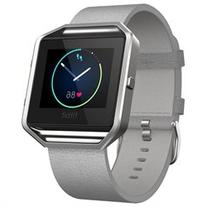 Fitbit Blaze Mist Grey Leather Accessory Strap Size Large