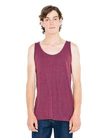 American Apparel Men's Blend Tank, Tri/Cranberry, X-Large