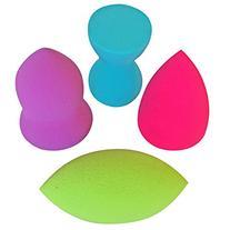 Makeup Beauty Sponges Blender Foundation - 4 pc Pro Make Up