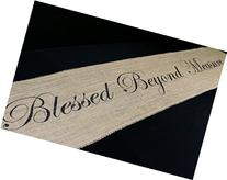 Blessed Beyond Measure Burlap Table Runner 12 inches x 64