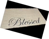 Blessed Burlap Table Runner -12 inches by 64 inches