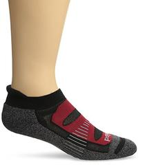 Balega Blister Resist No Show Socks, Black/Red, Large