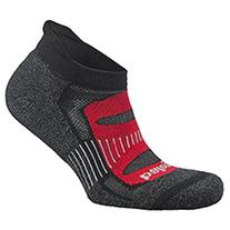 Balega Blister Resist No Show Socks, Black/Red, Medium