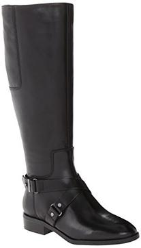 Nine West Women's Blogger Wide Calf Harness Boot,Black,8 M
