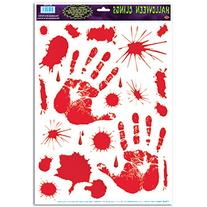 Beistle Bloody Handprint Clings, 12-Inch by 17-Inch Sheet