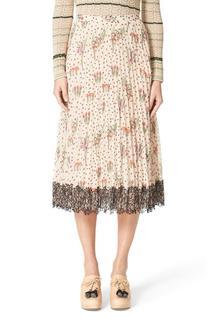 Women's Red Valentino Blooming Garden Print Pleated Skirt,